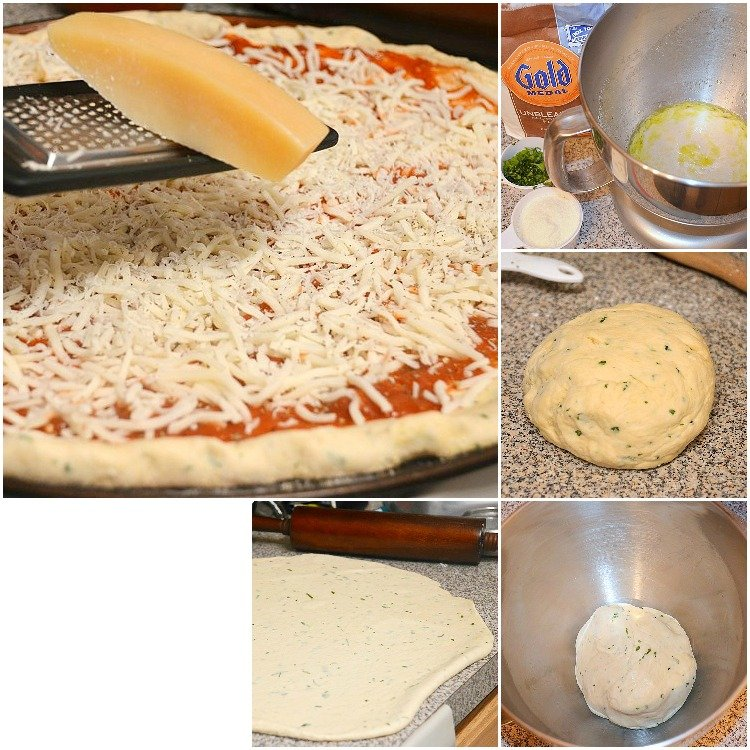 Homemade-Pizza-Dough- Collage