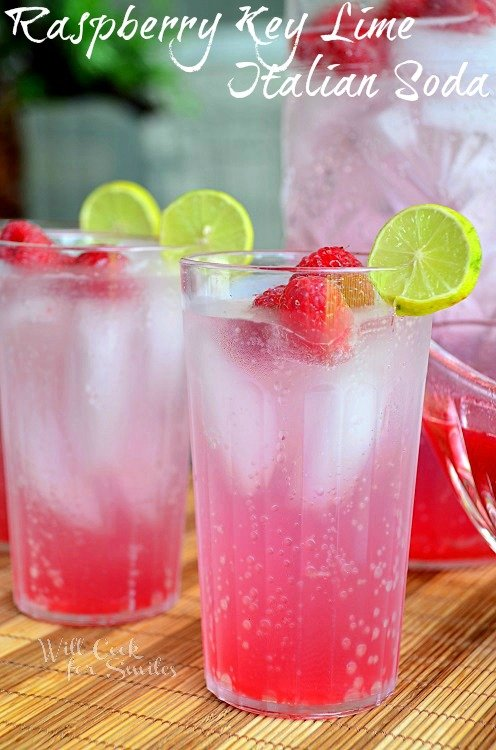 Raspberry Key Lime Italian Soda | Refreshing Homemade Soda Recipes Perfect This Summer | homemade soda pop