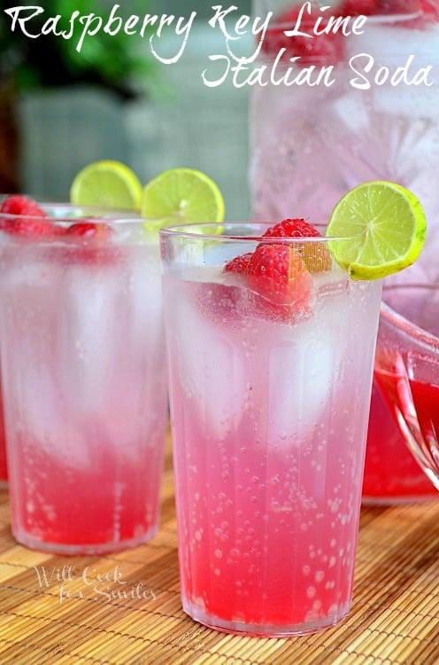 Raspberry-Key-Lime-Italian-Soda 1 willcookforsmiles.com