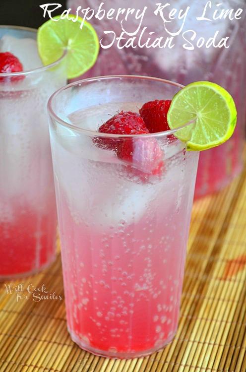 Raspberry-Key-Lime-Italian-Soda 3 willcookforsmiles.com