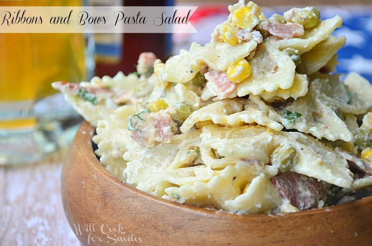 Ribbons-and-Bows-Pasta-Salad 4 willcookforsmiles.com