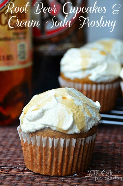 Root-Beer-Cupcakes-With-Cream-Soda Frosting 1 willcookforsmiles.com
