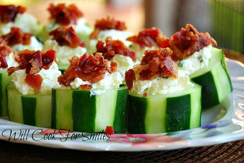 Wright Stuffed Cucumber Bites