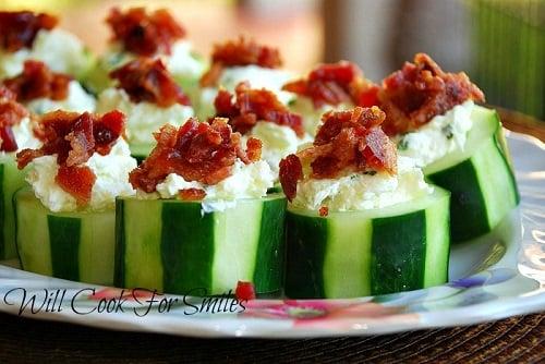 Wright Stuffed Cucumber Bites