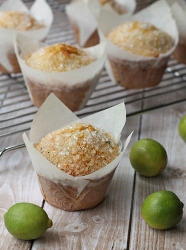 key-lime-blueberry-corn-muffins
