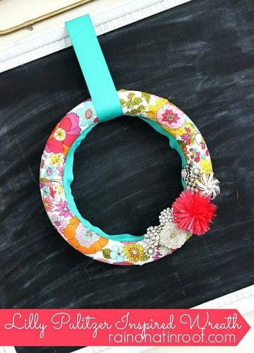 lilly pulitzer wreath 6