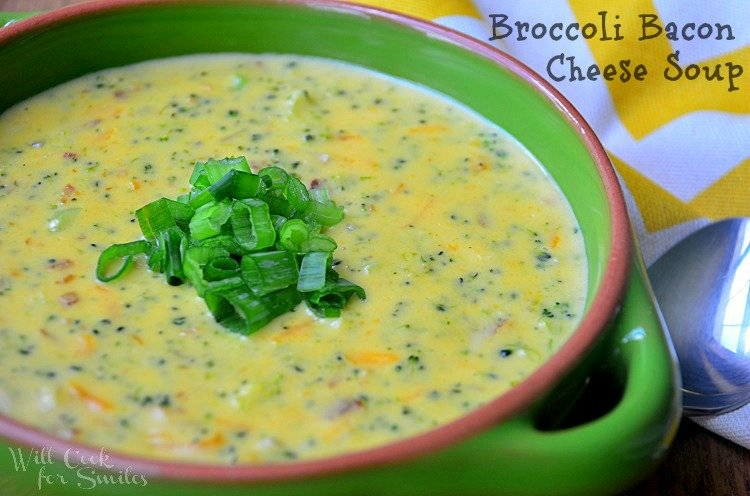 Broccoli Bacon Cheese Soup in a bowl