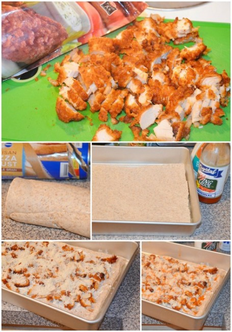 Buffalo-Chicken-Pizza- Collage