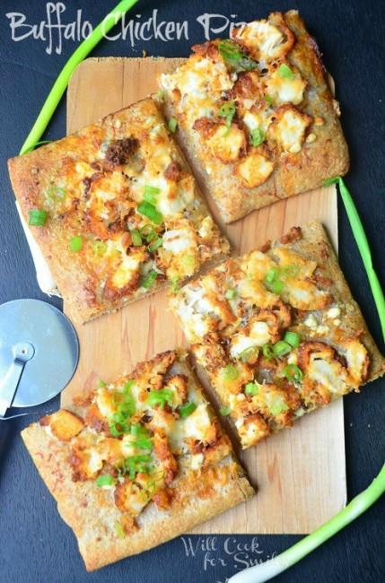 Buffalo-Chicken-Pizza willcookforsmiles.com