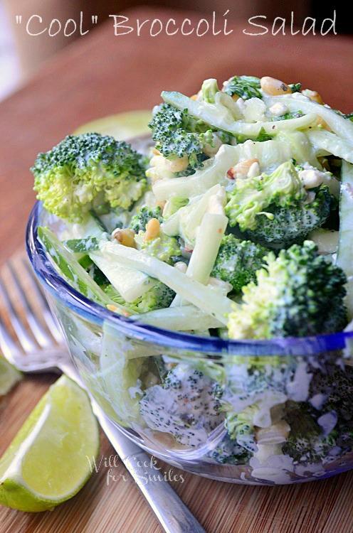Cool-Broccoli-Cucumber-Salad 4 willcookforsmiles.com