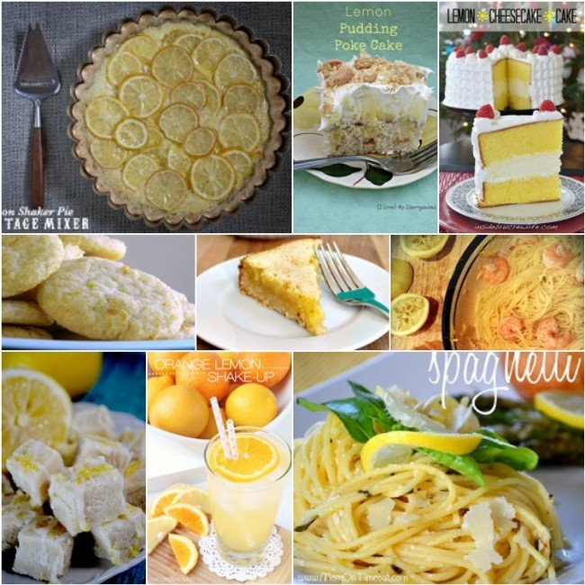 Lemon Recipes 2 Collage