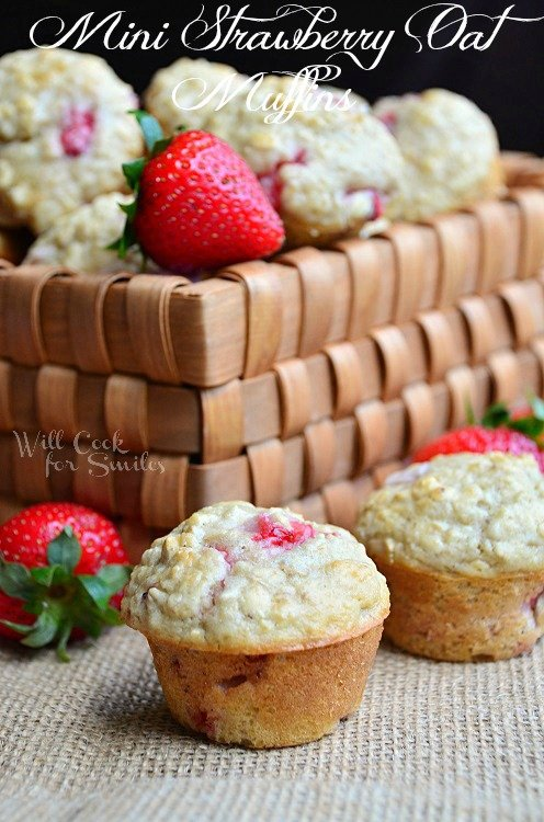 Mini Strawberry Oat Muffins 3 willcookforsmiles.com