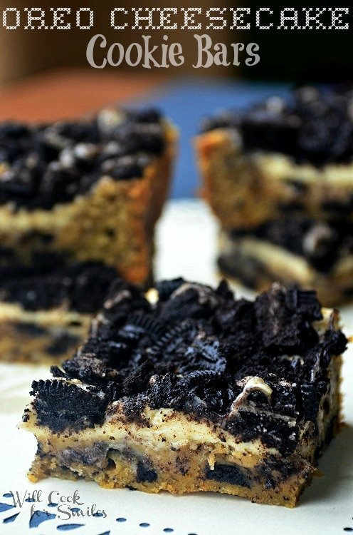 Oreo-Cheesecake-Cookie-Bars 1 willcookforsmiles.com