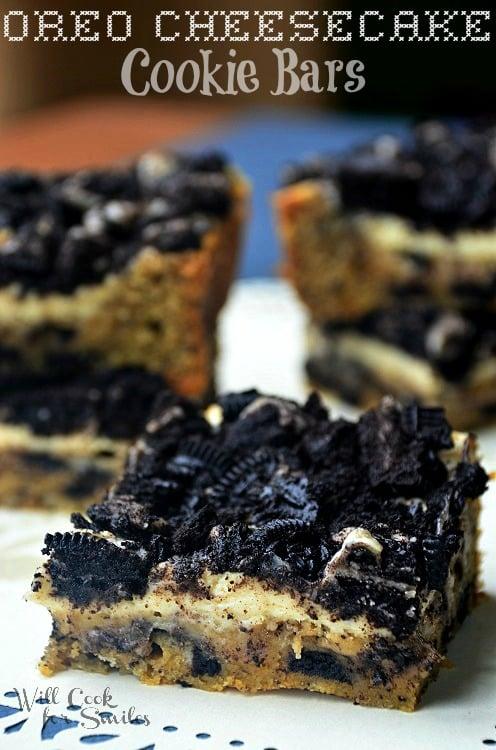 Oreo-Cheesecake-Cookie-Bars 1 willcookforsmiles.com