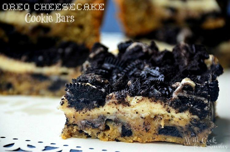 Oreo-Cheesecake-Cookie-Bars 2 willcookforsmiles.com