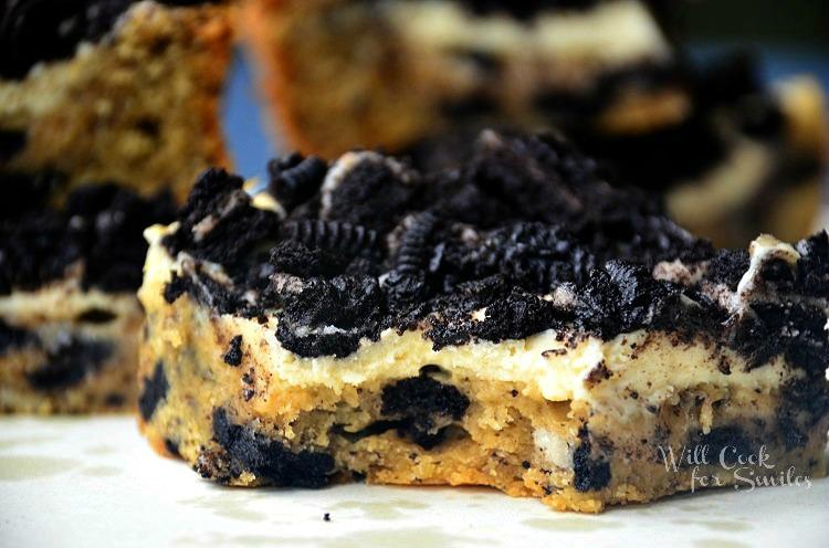 Oreo-Cheesecake-Cookie-Bars 3 willcookforsmiles.com