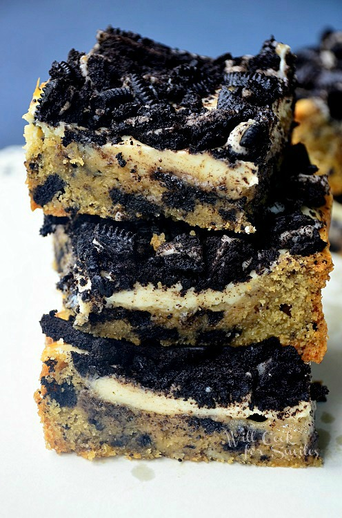 Oreo-Cheesecake-Cookie-Bars willcookforsmiles.com