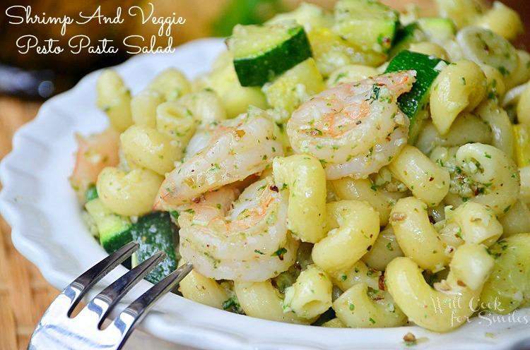 Shrimp-and-Veggie-Pesto-Pasta-Salad 4 willcookforsmiles.com