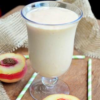 Skinny Peach & Cream Milkshake