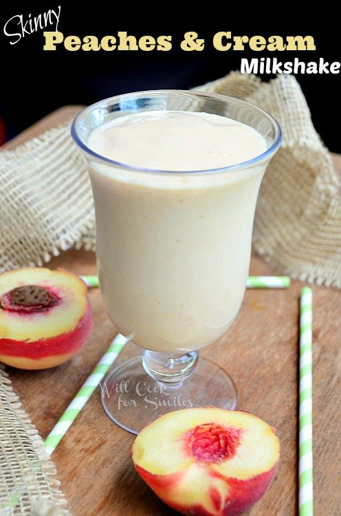 Skinny-Peaches-and-Cream-Milkshake willcookforsmiles.com