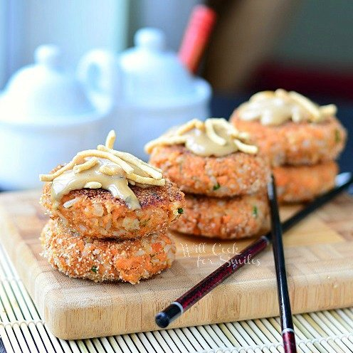 Asian Salmon Cakes  cr (c) willcookforsmiles.com