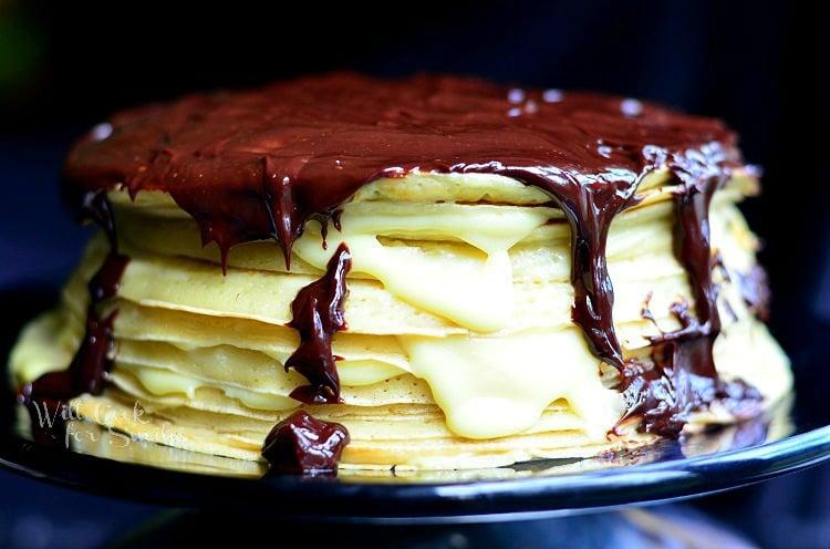 Boston Cream Crepe Cake 1 C Willcookforsmiles
