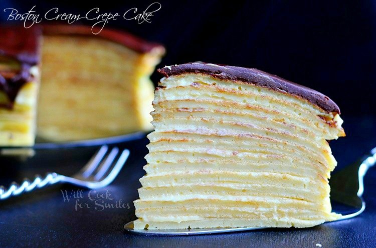 Boston Cream Crepe Cake 2 (c) willcookforsmiles.com