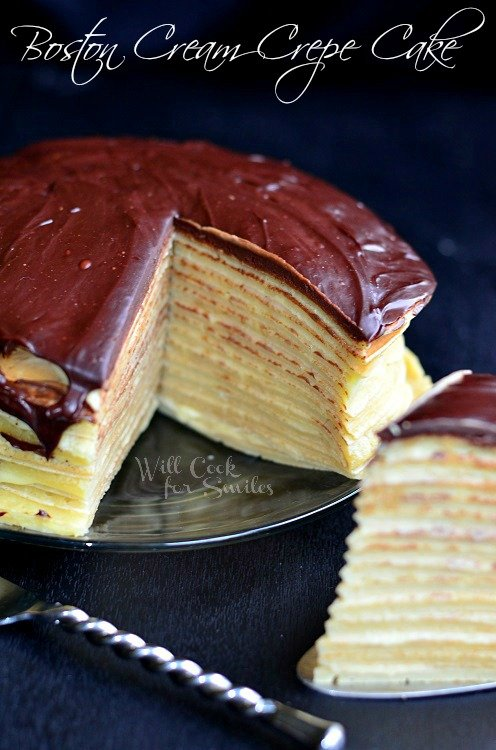 Boston Cream Crepe Cake 5 (c) willcookforsmiles.com