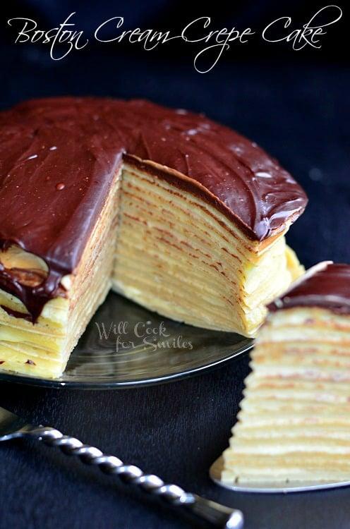 Boston Cream Crepe Cake 5 (c) willcookforsmiles.com