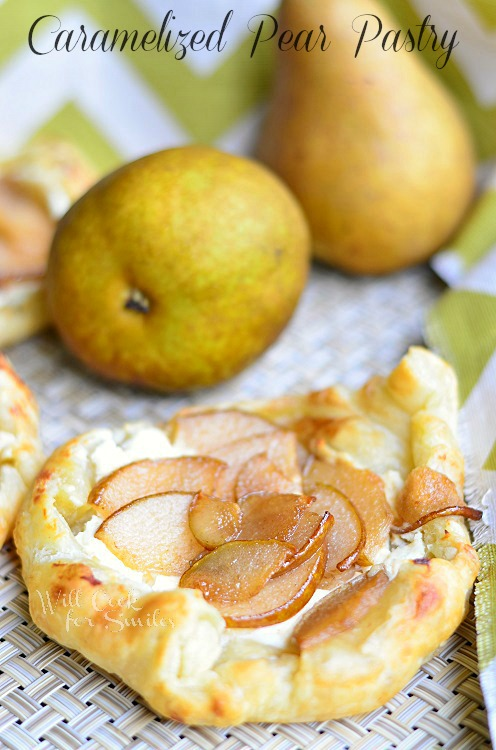 Caramelized Pear Pastry 1 (c) willcookforsmiles.com #pastry #pear