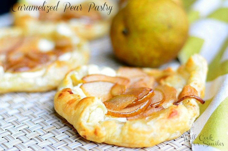 Caramelized Pear Pastry 2  (c) willcookforsmiles.com #pastry #pear