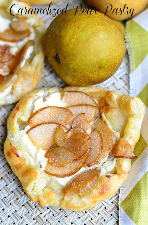 Caramelized Pear Pastry  3 (c) willcookforsmiles.com #pastry #pear