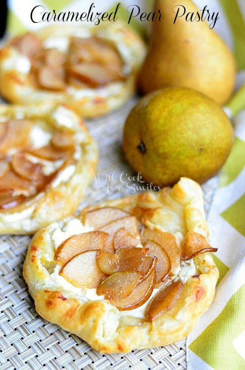 Caramelized Pear Pastry  (c) willcookforsmiles.com #pastry #pear