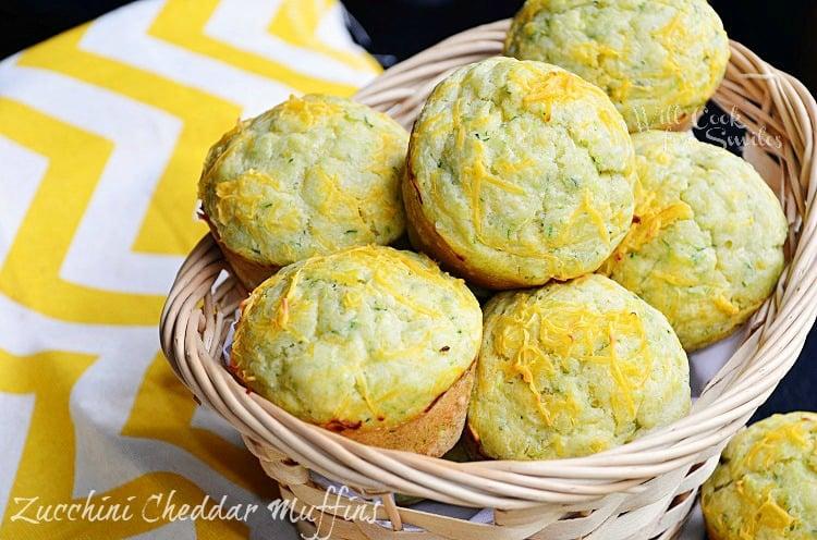 Cheddar-Zucchini Muffins 3  (c) willcookforsmiles.com #muffin