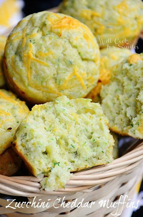 Cheddar-Zucchini Muffins 4  (c) willcookforsmiles.com #muffin