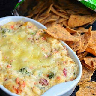 Hot Veggie Dip with Veggie Chips