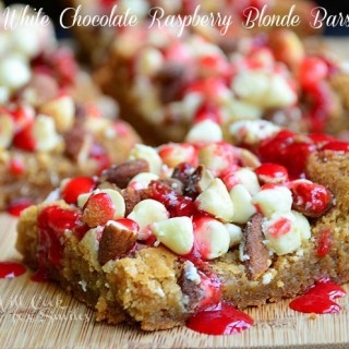White Chocolate Raspberry Blonde Bars & FOOD FIGHT!