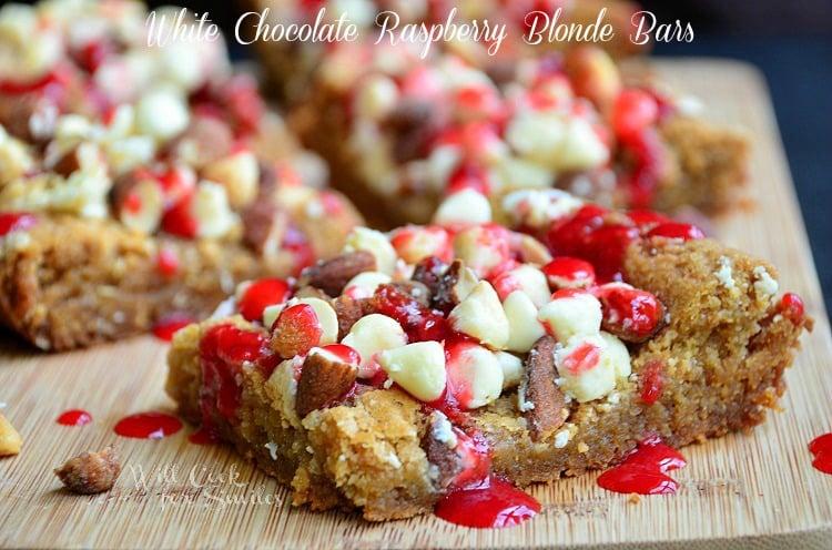 White Chocolate Raspberry Blonde Bars 1 willcookforsmiles.com