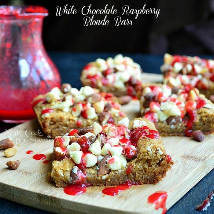 White Chocolate Raspberry Blonde Bars 2 willcookforsmiles.com