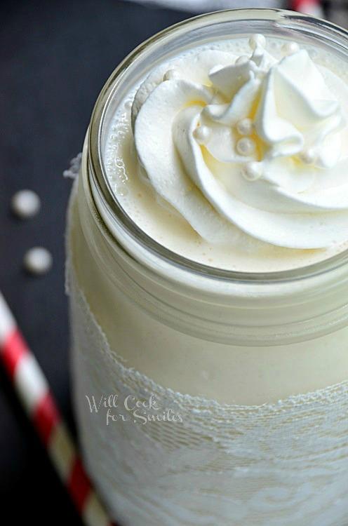 White Wedding Cake Milkshake 3 willcookforsmiles.com