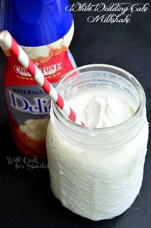 White Wedding Cake Milkshake 4 willcookforsmiles.com