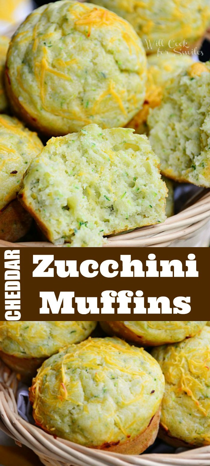 zucchini muffins collage