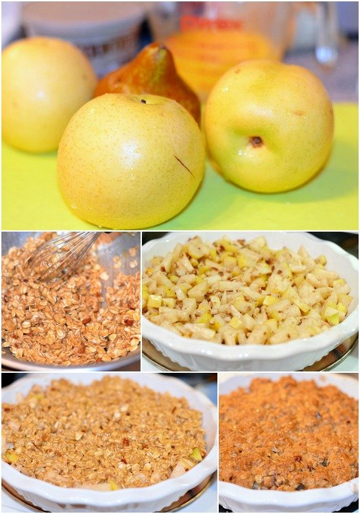 Asian Pear Crisp Collage