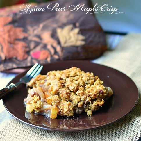 Asian Pear Crisp cr (c) willcookforsmiles.com #pear #crisp #casserole