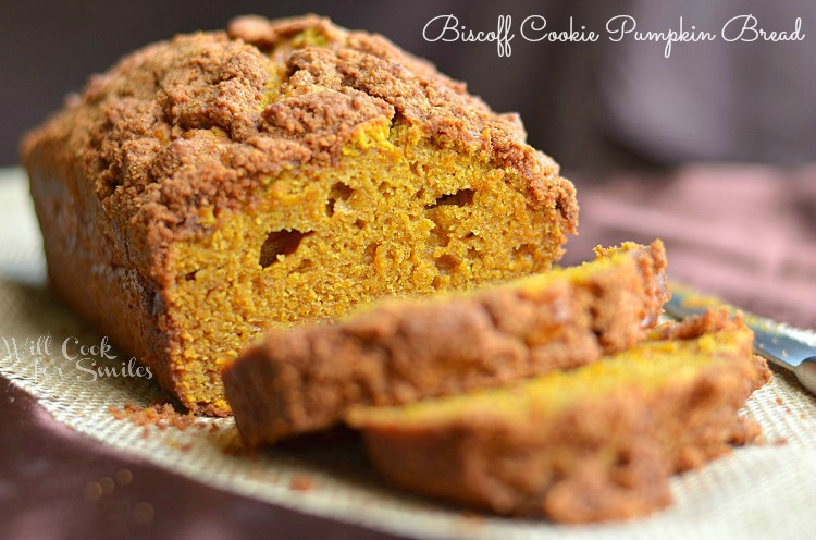 Biscoff Cookie Pumpkin Bread