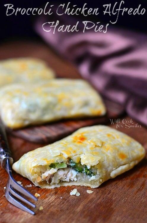 Broccoli Chicken Alfredo Hand Pies 3  (c) willcookforsmiles.com #handpies #chicken #alfredo