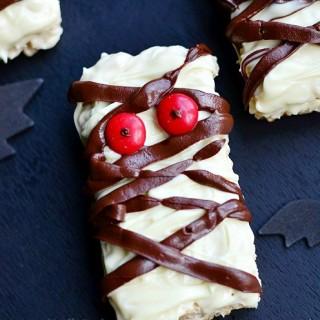 Double Chocolate Rice Krispie Mummies
