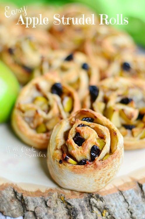 Easy Apple Strudel Rolls 1 (c) willcookforsmiles.com #apple #strudel #fallrecipes