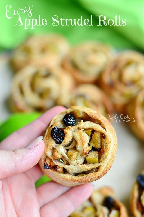 Easy Apple Strudel Rolls 3 (c) willcookforsmiles.com #apple #strudel #fallrecipes