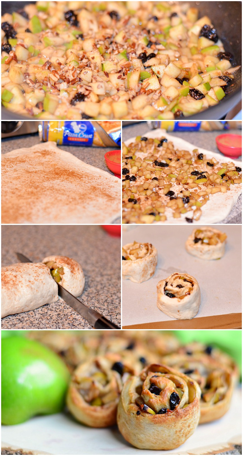 Easy Apple Strudel Rolls Collage